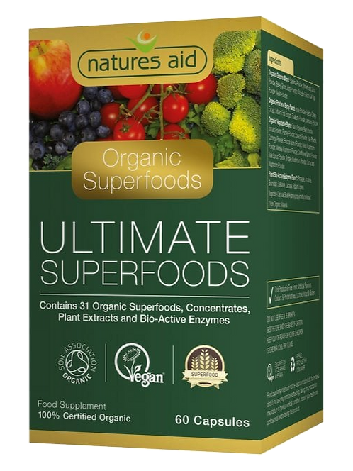 Natures Aid Organic Ultimate Superfoods 60