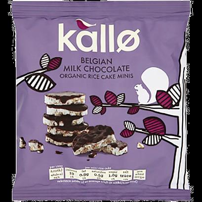 Kallo Belgian Milk Chocolate Rice Cakes (40g)