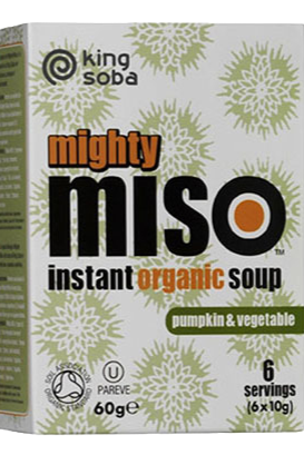 King Soba Miso Soup with Pumpkin and Vegetables Gluten Free 6 packets 10g