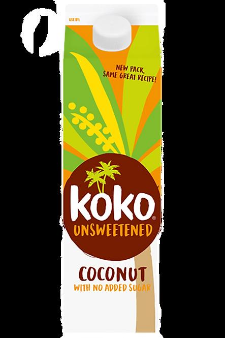 KOKO DAIRY FREE COCONUT MILK DRINK UNSWEETENED - 1L