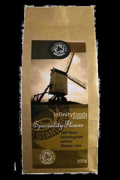 Infinity Foods Wholegrain White Teff Flour, Organic 500g