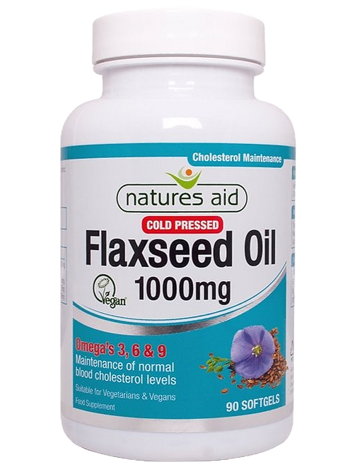 Natures Aid Flaxseed Oil 1000mg 90Softgels