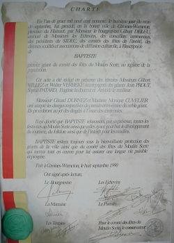 Charte du Géant Baptiste