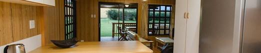 Log cabin open plan living