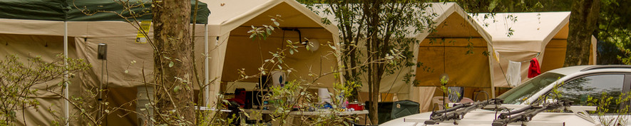 Spacious campsites perfect for camping tents or caravans. Set up with safari tents.