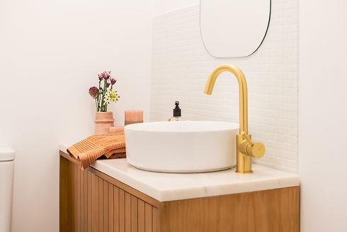 Reabilitação de casa de banho com mosaico hidráulico