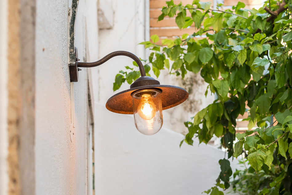 Reabilitação de apartamento em alfama - Pátio e iluminação exterior