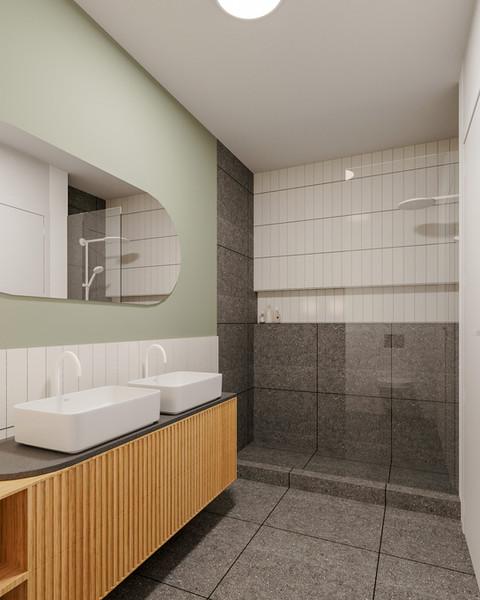 renovação total de casa-de-banho com móvel por medida