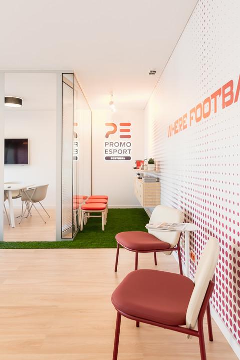 Zona de lounge e espera do escritório