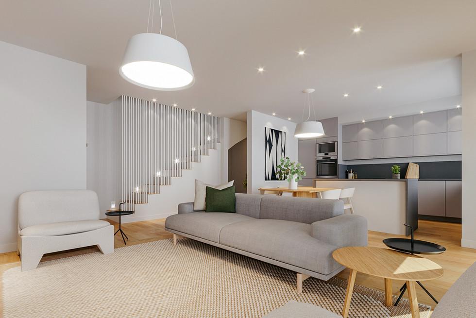 Remodelação e transformação de cozinha e sala em open space