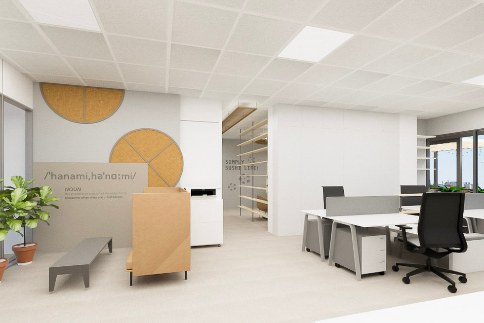 Escritórios em open space