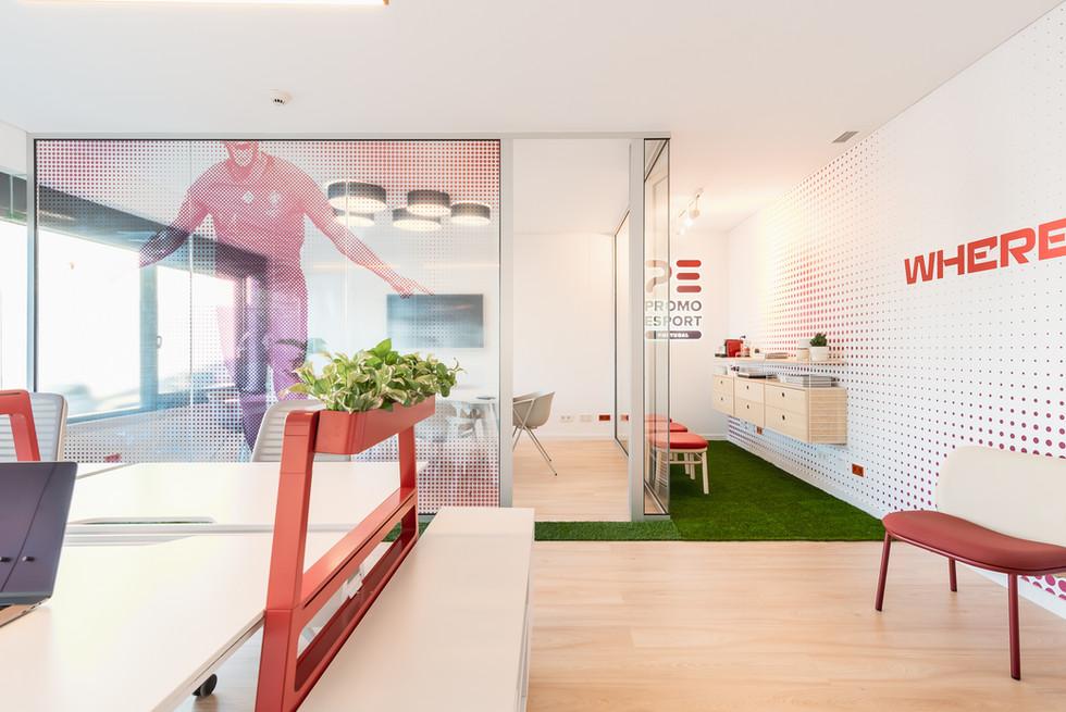 Decoração e mobiliário de escritório