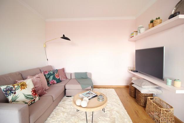 Sala de estar em open space