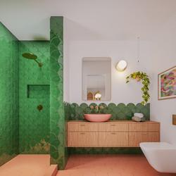 Reabilitação de casa de banho com azulejos artesanais