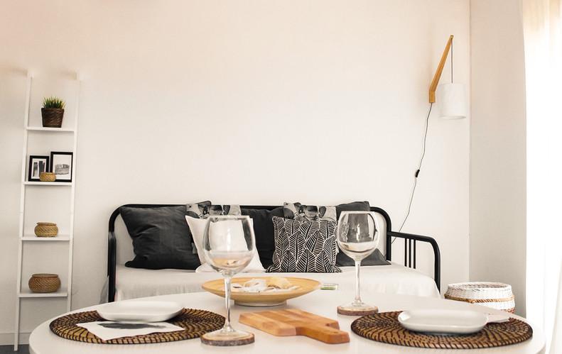 Decoração de sala minimalista