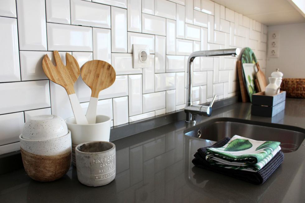 Detalhes bancada de cozinha