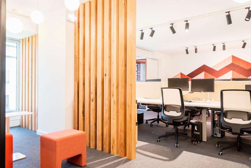 Bancos davos para zona de lounge e flex work