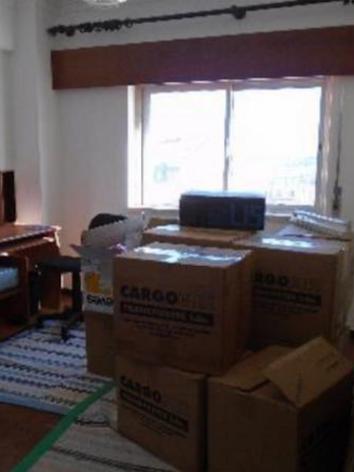 Antes de um dos quartos transformado em sala (open space)