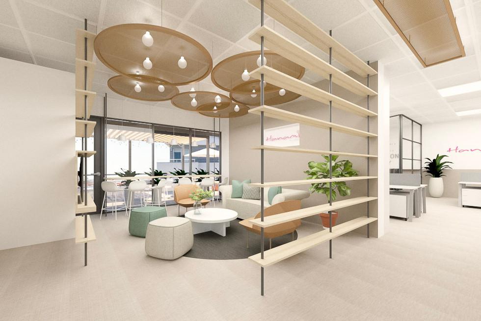 Decoração de espaço de lounge de escritório