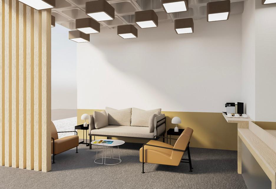 Decoração de zona de lounge e recepção