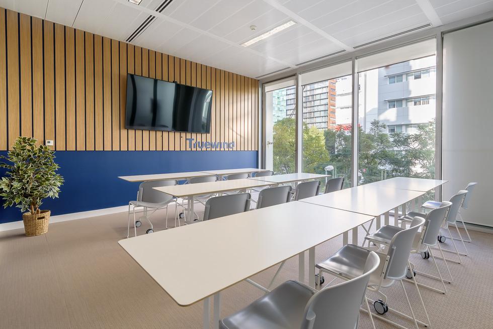 Decoração de escritórios - espaço de sala de reuniões