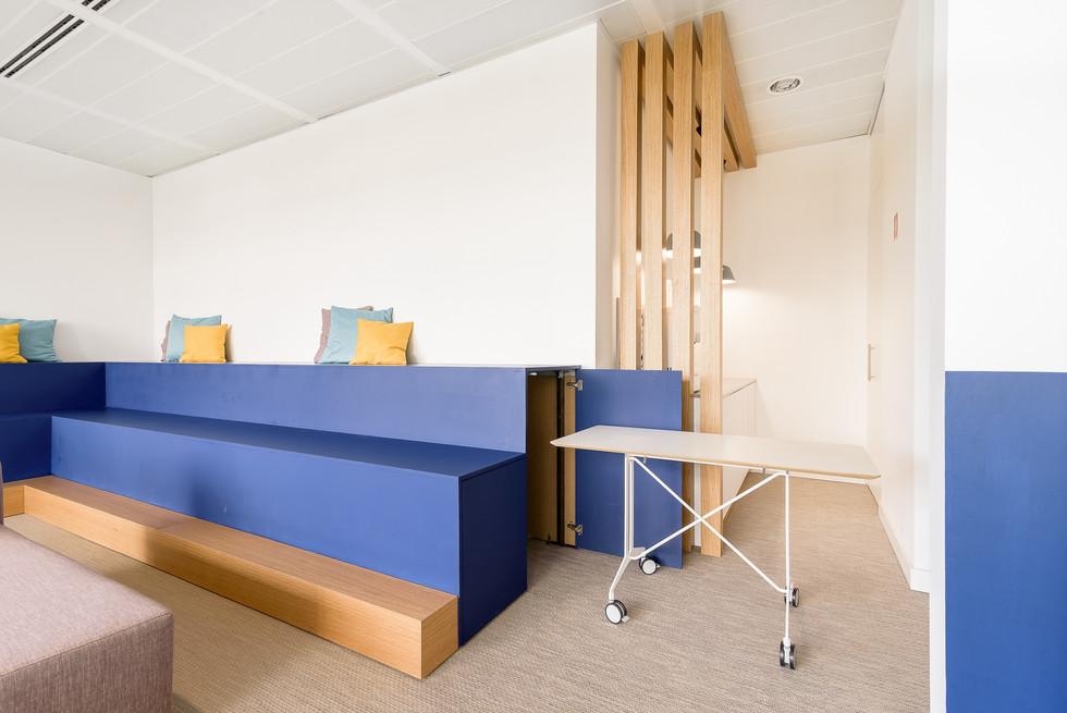 Decoração de escritórios - espaço de lounge