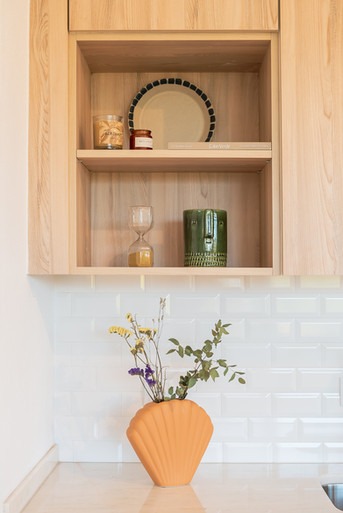 Decoração da bancada de cozinha