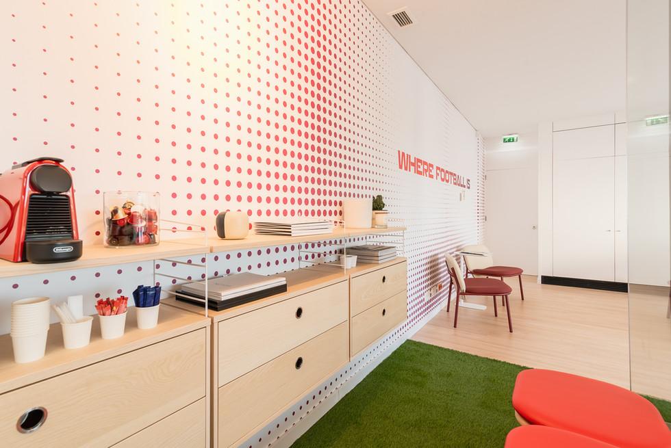 Zona de lounge do escritório