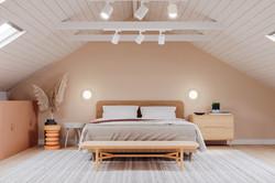 Decoração de interiores - quarto com tons calmos
