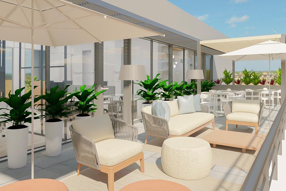 Espaço de lounge exterior