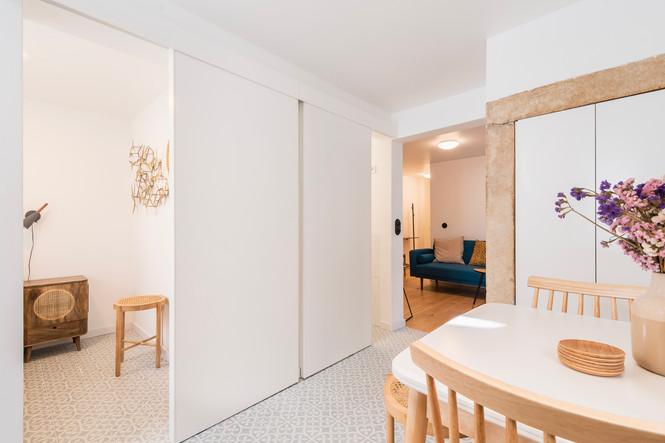 Reabilitação de apartamento em alfama - Cozinha feita por medida e decoração