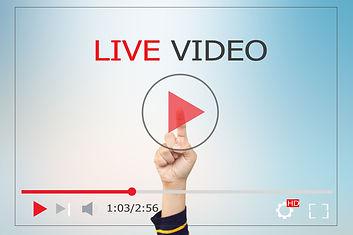 LIVE VIDEO CONCEPT.Hands man push start