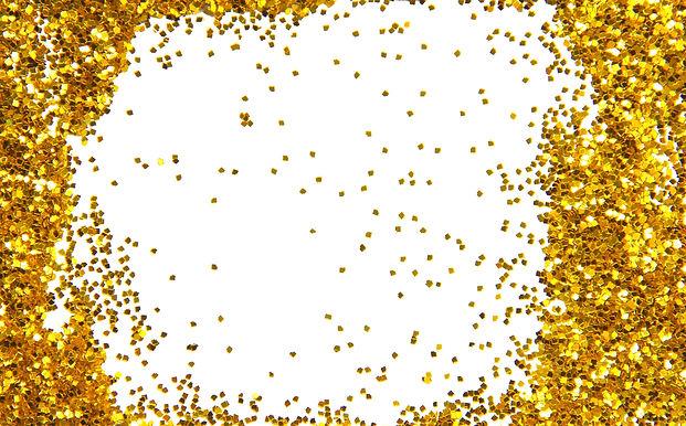 golden sparkle glittering frame_