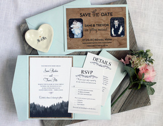vermont wedding invitation