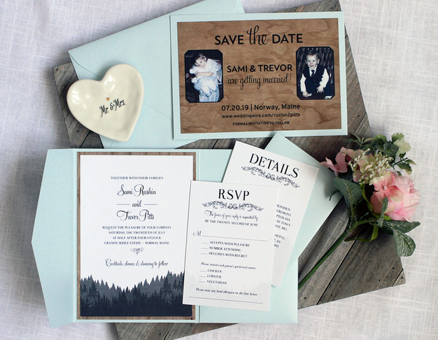 vermont wedding invitation
