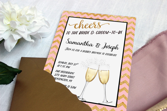 pink and gold engagement party
