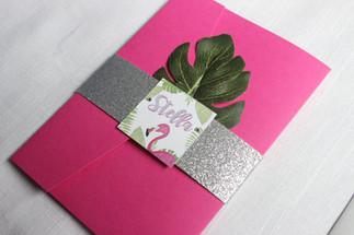 tropical first birthday invitation