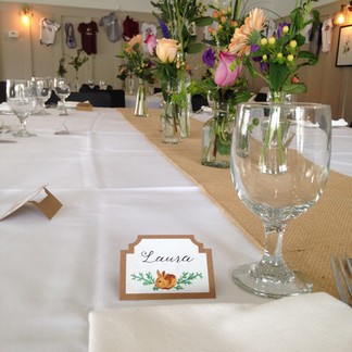 hand painted seating cards
