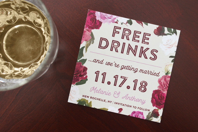 funny save the date coaster