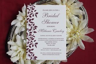 autumn bridal shower invitation