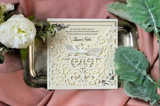 lasercut invitation enclosure