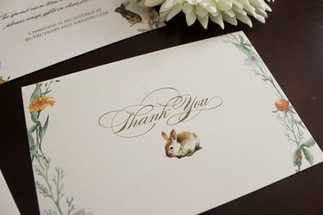 peter rabbit thank you card