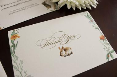peter rabbit thank you card