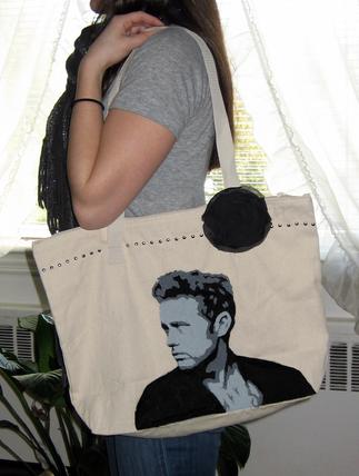 james dean custom painted bag