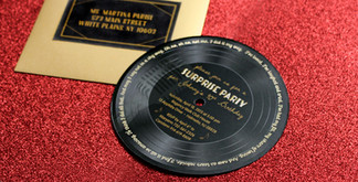 90th party milestone birthday record invitation
