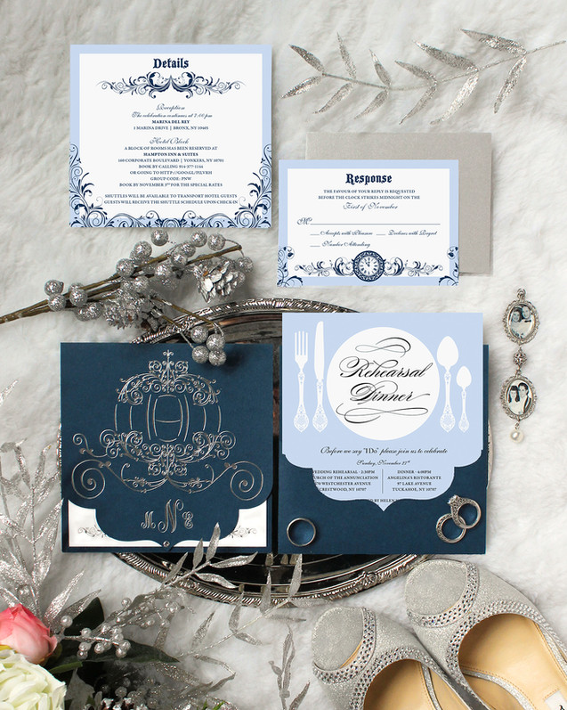 cinderella wedding invitation suite