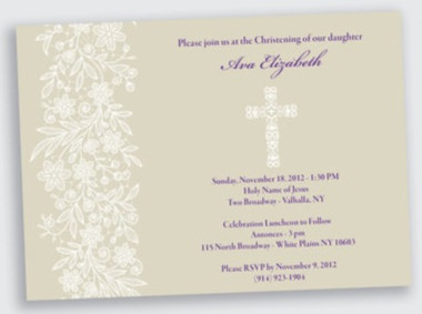 religious baptism party invitation