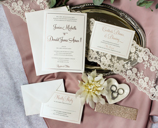 rose gold foil invitation