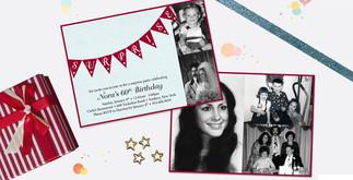 60th birthday milestone birthday invitation