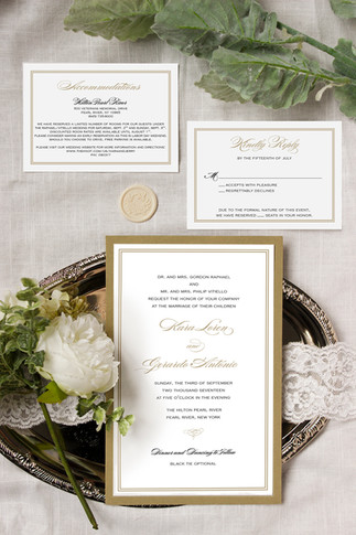gold and black classic wedding